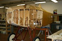 Avia B.H.5 Fuselage in the Workshop