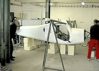 Fuselage strength test of the Pegass aeroplane